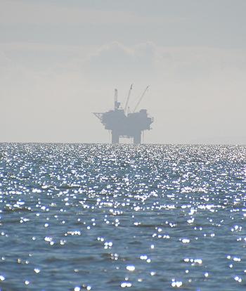 Oil Rig Off the Coast of Alaska